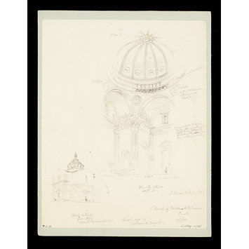 Drawing - One of 235 drawings of architectural subjects in France, Germany, and Italy