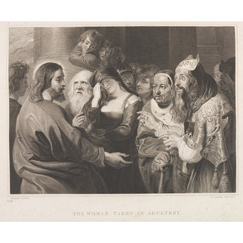 Print - The Woman Taken in Adultery