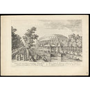 View of the Canal, Chinese Building, Rotundo &c. in Ranelagh Gardens, with the Masquerade. (Print)