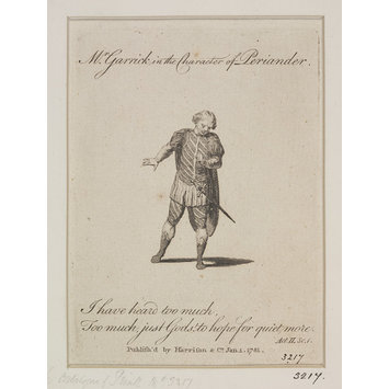 Print - Mr. Garrick in the character of Periander in Eurydice