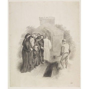 Drawing - Burying the Dead