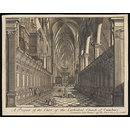 A Prospect of the Choir of the Cathedral Church of Canterbury (Print)