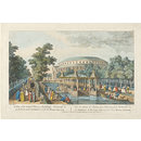 A View of the Canal, Chinese Building, Rotunda, &c. in Ranelagh Gardens, with the Masquerade (Print)