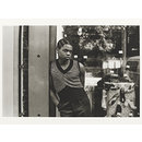 Untitled [boy with sleeveless shirt, shoes in window] from the series On a Good Day (Photograph)