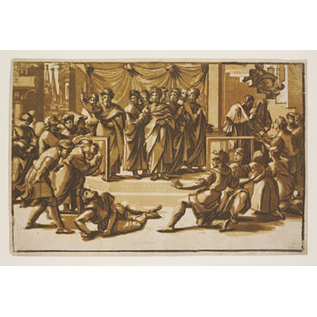 Print - The Death of Ananias