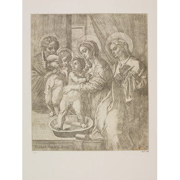 Print - Holy Family, with St. John and St. Elizabeth