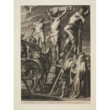Print - Christ on the Cross Between the Two Thieves