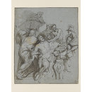 Recto: The Martyrdom of Saint George  (Drawing)