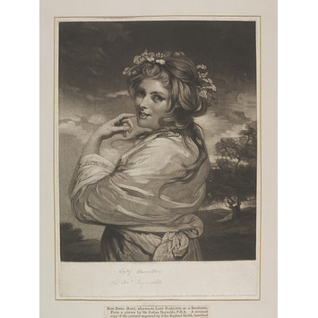 Print - Miss Emma Hart as a Bacchante