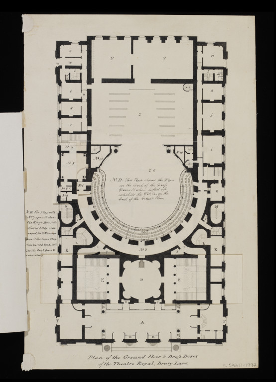 Plan Of The Ground Floor And Dress Boxes Of The Theatre