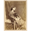 Mrs William Morris posed by Rossetti, 1865 (Photograph)