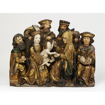 Relief - The Holy Family with St Anne, Joachim, Cleophas, and Salomas