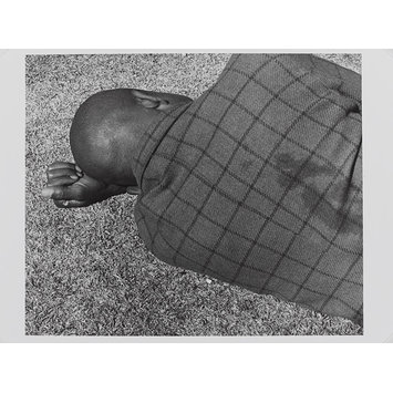 Photograph - Man sleeping, Joubert Park, Johannesburg