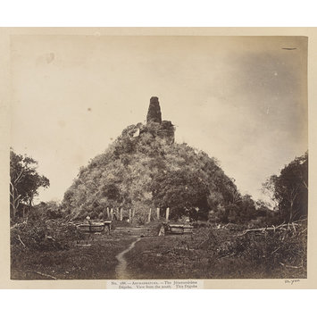 Photograph - Anuradhapura-The Jétawanáráma Dágoba. View from the south. This Dágoba was built by King Maha Sen in the third century after Christ. It is a huge mass of solid brickwork, 396 feet in diameter and 246 feet high. (No. 188)