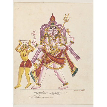 Painting - Shiva in his form as Bichandi or Bhikshatana