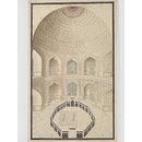 Seven drawings of the interior of the Taj Mahal, Agra and architectural details. (Drawing)