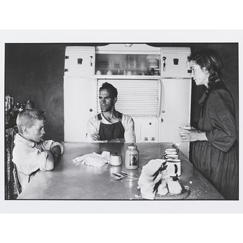Photograph - Family at Lunch, Wheatlands Plots, Randfontein