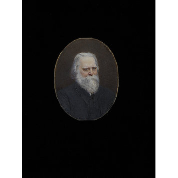 Portrait miniature - Miniature portrait of an unknown elderly man