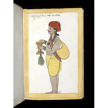 Painting - One of sixty-three drawings from an Album depicting Sinhalese occupations and castes.