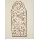 One of thirty drawings of details of architectural stone and mother-of pearl ornament taken from rubbings and moulds of monuments in Ahmedabad, the capital seat of the Ahmad, Shahi dynasty. (Drawing)