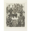 The Worship of the Golden Calf (Etching)