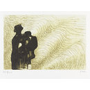 Mother and Child with Wave Background II (Print)