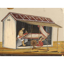 One of eleven paintings depicting craftsmen and their shops. (Painting)