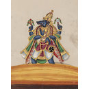 One of twelve paintings of Hindu deities. (Painting)