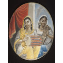 One of five paintings of Indian ladies. (Painting)