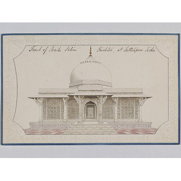 Painting - Fifteen drawings of monuments in Agra, Delhi and Fatehpur Sikri.