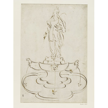 Drawing - Design for a fountain