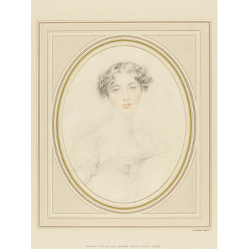 Drawing - Portrait, probably of Lady Susan North