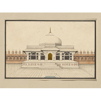 Nine small architectural drawings of mughal monuments for Complete set of architectural drawings pdf