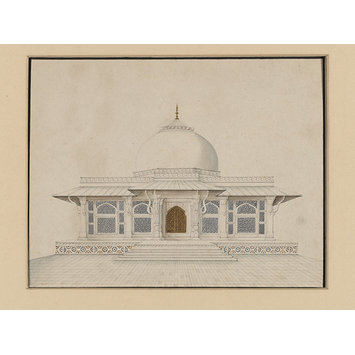 Drawing - Sixty drawings of Mughal monuments and architectural details.
