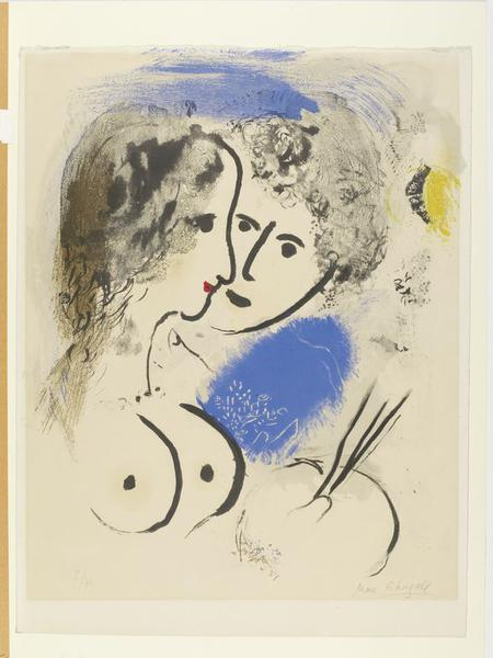 Le peintre la palette chagall marc v a search the for Chagall peintre