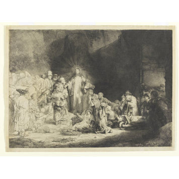 Print - Christ healing the sick, 'The hundred guilder print'