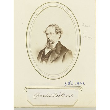 Photograph - Album of carte-de visite, Charles Dickens