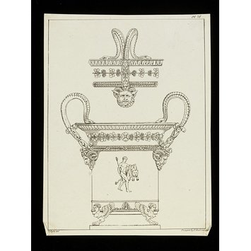Print - Architectural Ornaments, or, A Collection of Capitals, Friezes, Roses, Entablatures, Mouldings, &c. Drawn on Stone. From the Antique