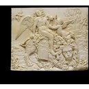 Apollo seated on a lion, with Cupid playing a lyre and animals (Relief)