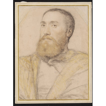 Drawing - Portrait of an Unknown Man, possibily identifiable as Thomas Seymour (c.1508-49)
