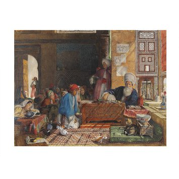 Watercolour - Interior of a school, Cairo