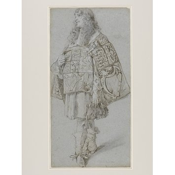 Drawing - A Pursuivant from the Garter Procession