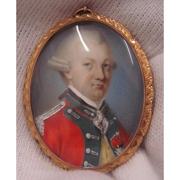 Portrait miniature - Portrait miniature of the Chevalier d'Eon