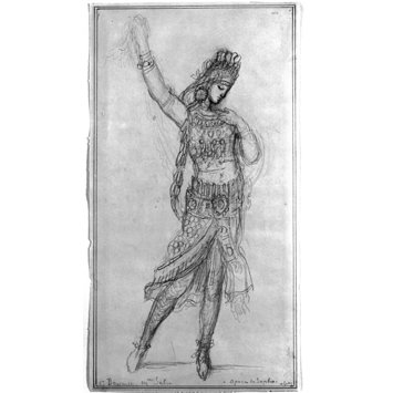 Drawing - Costume design for a dancer in the opera Sapho