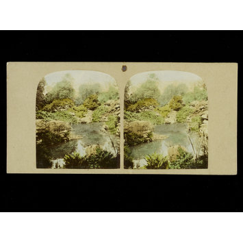 Photograph - View of the Rock Pond, below the Stride, Chatsworth Pleasure Grounds