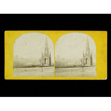 Photograph - Stereoscopic photograph of the Scott Monument