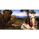 Nymphs and Children in a Landscape wtih Shepherds (Oil painting)