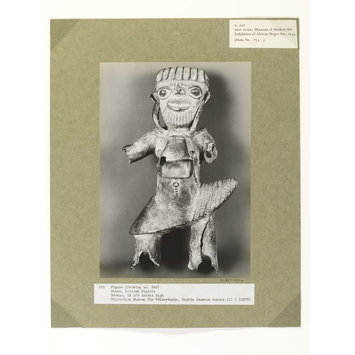 Photograph - Figure with Bell at Neck.  Benin