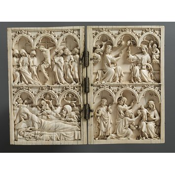 Diptych - The Nativity, the Adoration of the Magi, the Crucifixion and the Coronation of the Virgin