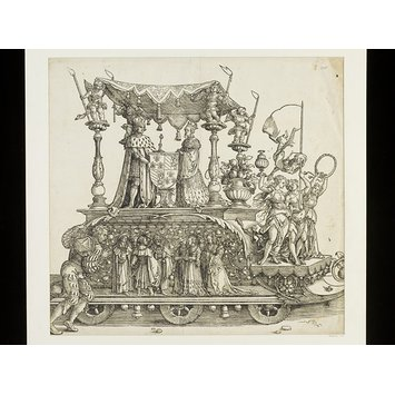 Woodcut - Triumph of the Emperor Maximilian I
